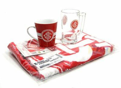 Kit Torcedor Internacional RS 3x1 toalha caneca Choop e cafe