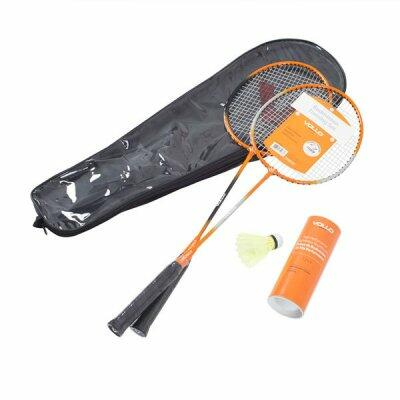 Kit Badminton Vollo 2 raquetes c/ 3 petecas